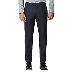 Ben Sherman - Navy waffle weave tailored trousers