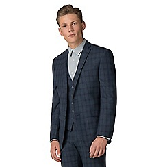 Ben Sherman - Slate jaspe check tailored fit jacket