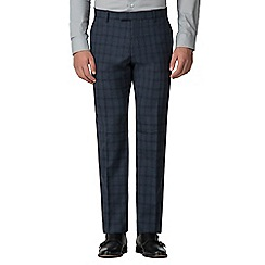 Ben Sherman - Slate jaspe check tailored fit trouser