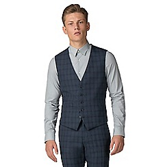 Ben Sherman - Slate jaspe check tailored fit waistcoat