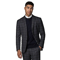 Ben Sherman - Slate heritage check slim fit suit