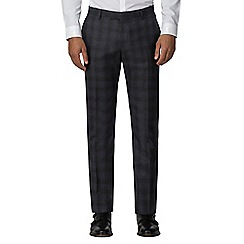 Ben Sherman - Slate heritage check slim fit trousers