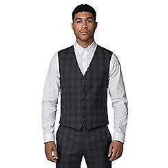 Ben Sherman - Slate heritage check slim fit waistcoat