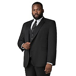 Centaur Big & Tall - Plain black twill suit