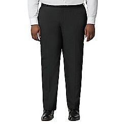 Centaur Big & Tall - Plain black twill trousers