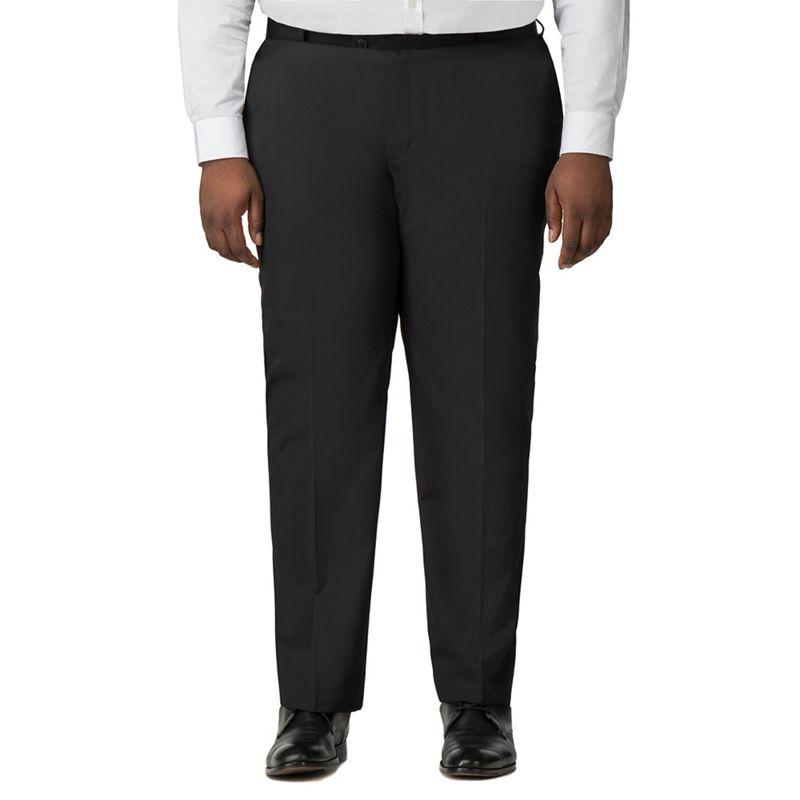 Centaur Big and Tall - Plain Black Twill Trousers