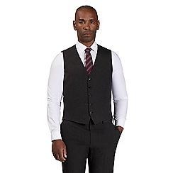 Centaur Big & Tall - Grey semi plain waistcoat