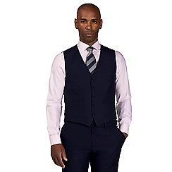 Centaur Big & Tall - Blue semi plain waistcoat