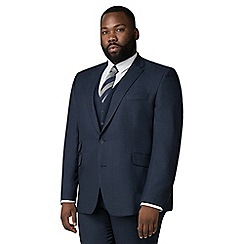 Centaur Big & Tall - Navy semi plain suit