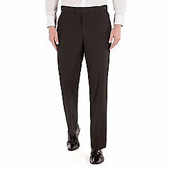 Occasions - Black plain dresswear regular fit trouser