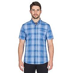 Jeff Banks - Blue graded check shirt