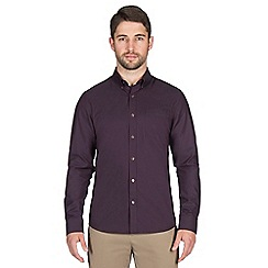Jeff Banks - Wine dot dobby shirt