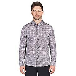 Jeff Banks - Berry floral print shirt