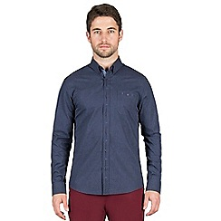 Jeff Banks - Navy dobby gingham shirt