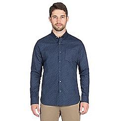 Jeff Banks - Navy vines print shirt