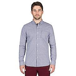 Jeff Banks - Navy maze dobby shirt