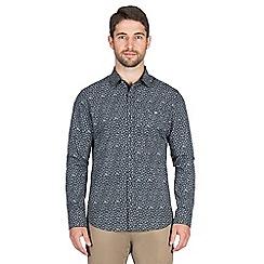 Jeff Banks - Navy micro floral print shirt
