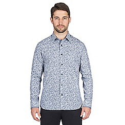 Jeff Banks - Blue leaf print shirt