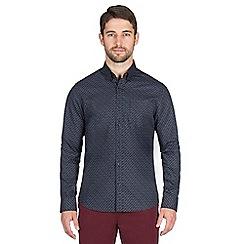 Jeff Banks - Black flower print shirt