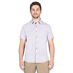 Jeff Banks - Lilac swirl floral print shirt