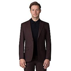 J by Jasper Conran - Burgundy flannel tailored jacket