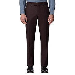 J by Jasper Conran - Burgundy flannel tailored trouser