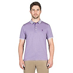 Jeff Banks - Lilac mini stripe polo shirt
