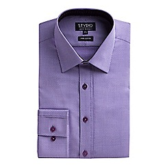 Stvdio by Jeff Banks - Lilac dobby shirt