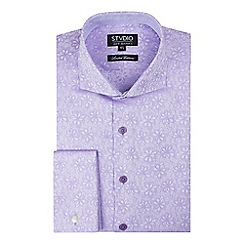 Stvdio by Jeff Banks - Limited edition lilac floral jacquard shirt