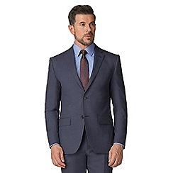 Jeff Banks - Airforce semi plain wool blend 2 button modern regular fit suit jacket