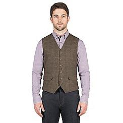 Jeff Banks - Brown herringbone check waistcoat