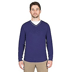 Jeff Banks - Blue cashmere blend v neck jumper
