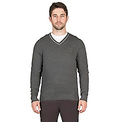 Jeff Banks - Grey cashmere blend v neck jumper