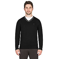 Jeff Banks - Black cashmere blend v neck jumper
