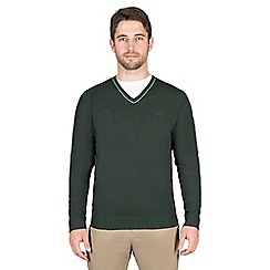 Jeff Banks - Green cashmere blend v neck jumper