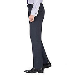Jeff Banks - Navy micro machine washable tailored fit wool blend formal trouser