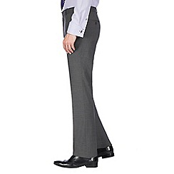 Jeff Banks - Grey textured machine washable slim fit wool blend formal trouser