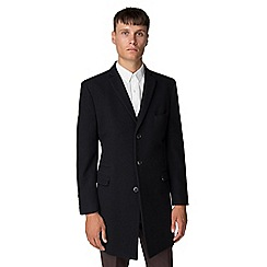 Ben Sherman - Navy Melton overcoat
