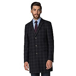 Hammond & Co. by Patrick Grant - Navy with grey check overcoat