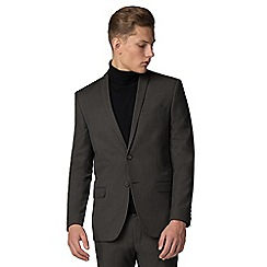 Red Herring - Deep green melange slim fit suit