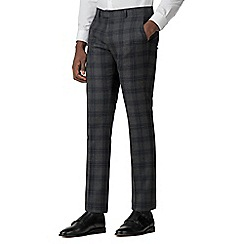 Ben Sherman - Grey and navy check slim fit trouser