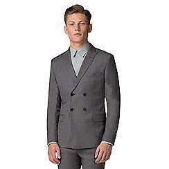 Ben Sherman - Salt and pepper micro slim fit suit