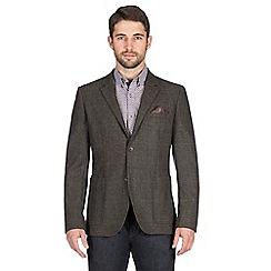 Jeff Banks - Brown tweed check blazer