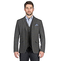 Jeff Banks - Grey large check blazer