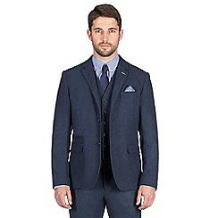 Jeff Banks - Blue textured weave blazer