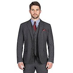 Jeff Banks - Charcoal textured weave blazer