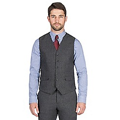 Jeff Banks - Charcoal textured weave waistcoat