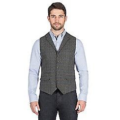 Jeff Banks - Grey large check waistcoat