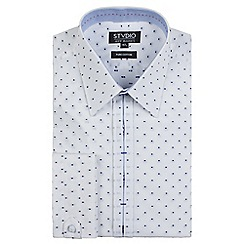 Stvdio by Jeff Banks - White spot dobby shirt