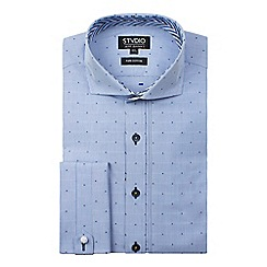 Stvdio by Jeff Banks - Spot dobby stripe shirt